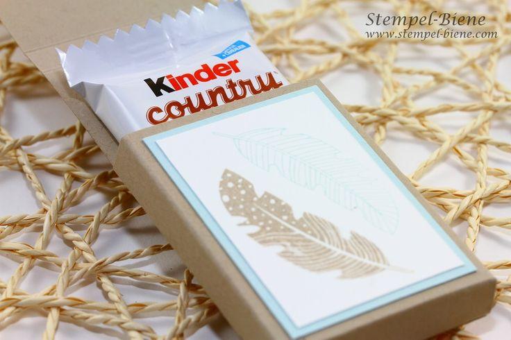 Stampin Up Schokoladenverpackung mit Anleitung, Stampin Up Kinder Countyverpackung, Stampin Up Four Feathers, Stampin Up Convention, Stampin up Swap, Stampin Up Bestellen, Weihnachtsworkshop