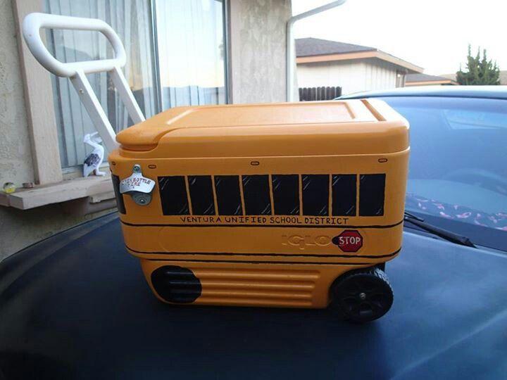 School Bus Igloo cooler, love it!!!!