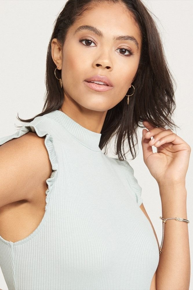 This mock neck top is the perfect combination of casual and chic.
