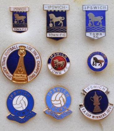 редкие, очень старые, эмалевые знаки английский профессиональных футбольных клубов:ФК Ипсвич Таун