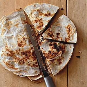 Sweet-Potato Chicken Quesadillas are a  scrumptious twist on an easy favorite | http://www.rachaelraymag.com/Recipes/rachael-ray-magazine-recipe-search/five-ingredient-recipes/sweet-potato-chicken-quesadillas