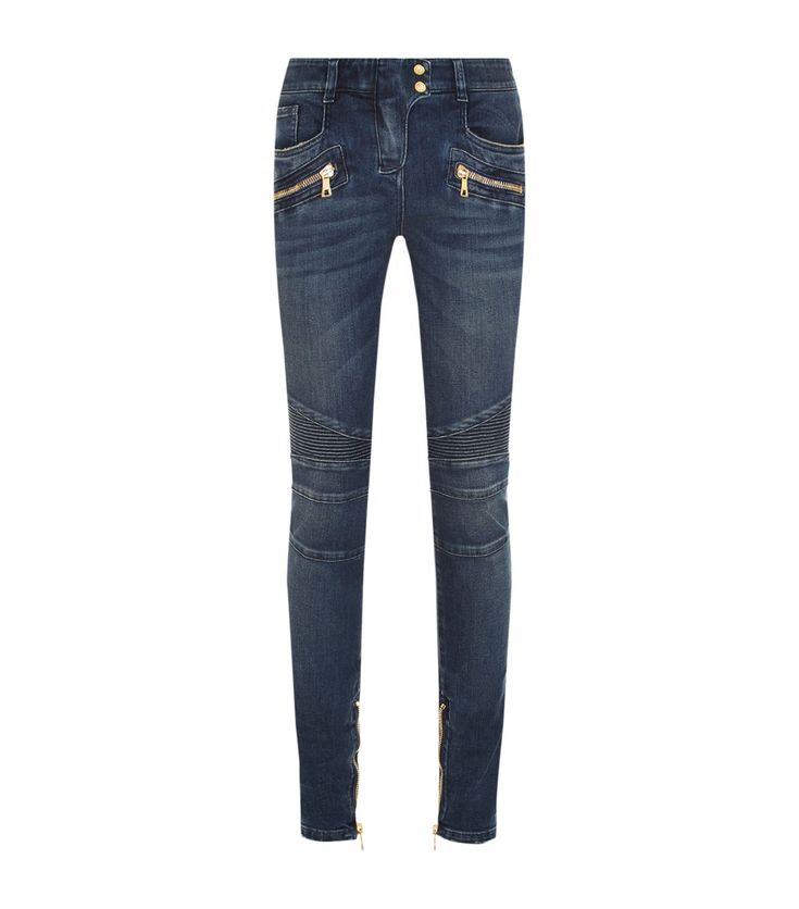 Balmain Biker Jeans | Harrods.com