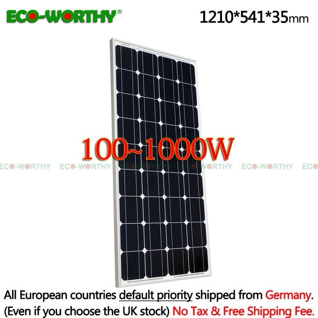 1 2 3 4 6 8 10pcs 100w Solar Panels 12v Monocrystalline Solar Panels For 12v Battery Solar Off Grid System 300 Solar Panels Solar Energy Panels Off Grid System
