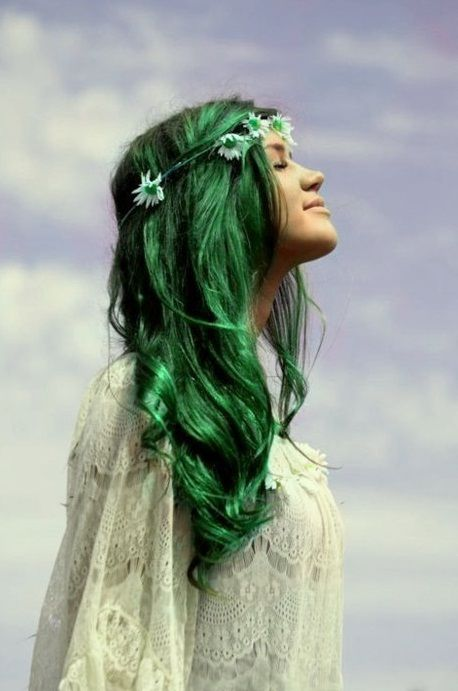 green hair!!