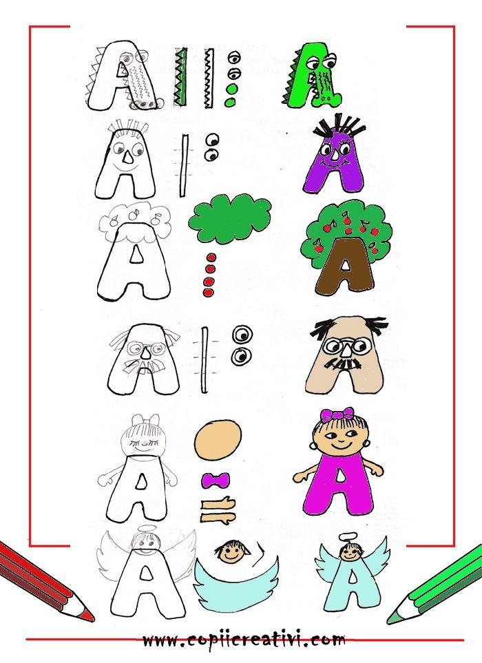 Desene cu litera  A
