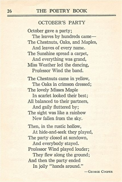 Brought to the front of the stream: An Autumn poem from The Poetry Book - 1926 | Flickr - Photo Sharing!