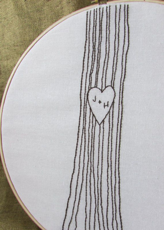 Beautiful hand embroidery pattern simple enough for a beginner. Perfect for a wedding, anniversary or valentine gift. Love decor.
