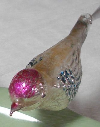 Vintage Mercury Glass Bird- my grandma had these all over her Christmas tree! I found a set of 4 for a great price at my favorite antique store! Now they are some of the highlights on my vintage ornament-decorated tree every year!