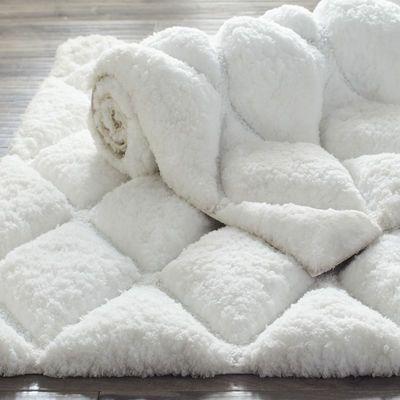 Luxe Diamond White 27x45 Bath Rug