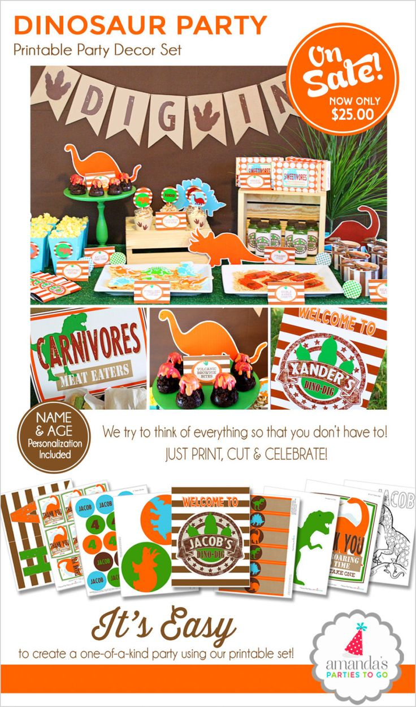 Dinosaur Birthday Party Dinosaur Party by AmandasPartiesToGo