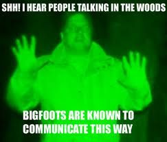 More Finding Bigfoot, state of the art investigators right there.......right