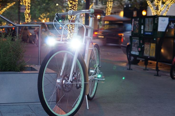 Night Light on a Faraday electric bike