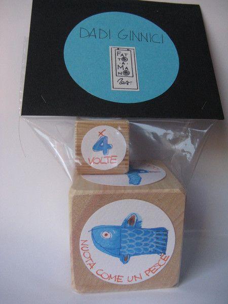 Giochi in legno - Dadi ginnici - un prodotto unico di lababajaga su DaWanda