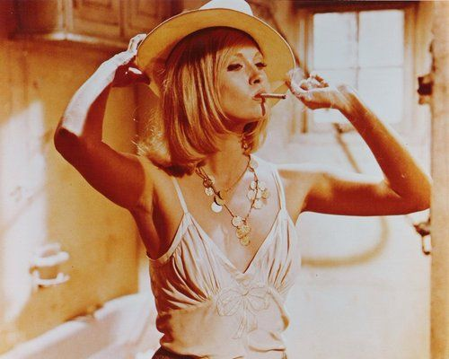 "Faye Dunaway in ""Bonnie and Clyde"", 1967."