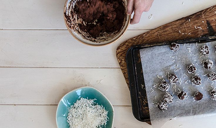 These heavenly truffles are so fun and easy to make, the hardest part will be sharing them. Using less than five ingredients, this luxurious choccy treat is simply equal quantities of cream cheese and chocolate. Believe it. Lovingly created by Annabel Langbein.