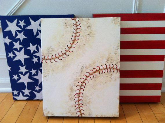 Baseball painting. American baseball flag by ItMightJustBeAPhase