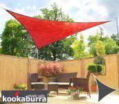 Tende a vela Kookaburra per feste- Triangolare 3,6 m Rosso Traspirante Intrecciata (185g)
