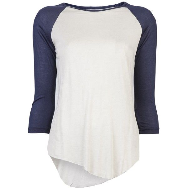 NEUW Ballerina baseball t-shirt ($81) ❤ liked on Polyvore..... Definitely not paying $81 for a baseball tee that I can get for $10 at Walmart.
