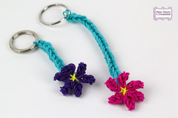 Rubber bands keychain (photo tutorial)