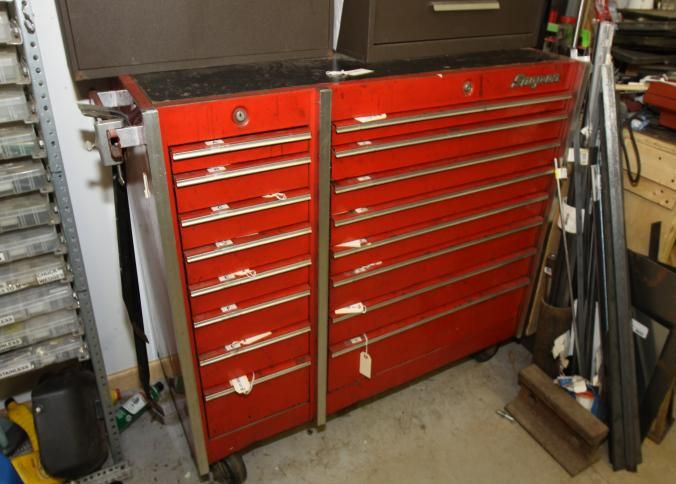 Sixteen drawer Snap-On tool box on wheels