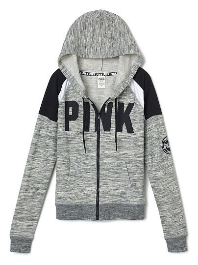 Perfect Full Zip Hoodie - PINK - Victoria's Secret
