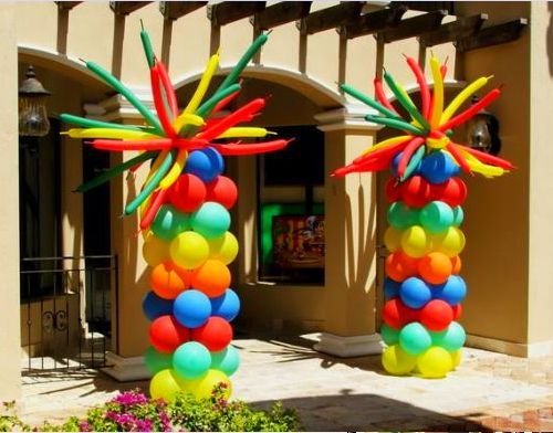 17 best images about luau party ideas on pinterest luau for Balloon column decoration
