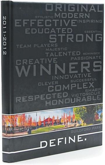 Define #YearbookTheme Guildford Park Secondary School , 2012