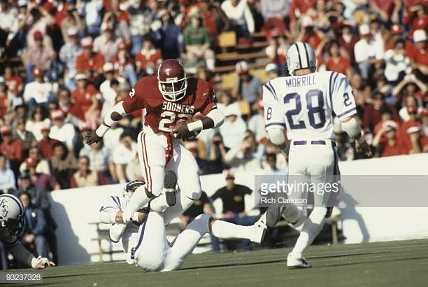 Oklahoma Marcus Dupree In Action Rushing Vs Kansas State Norman Ok Kansas State Marcus Dupree Oklahoma Sooners Football