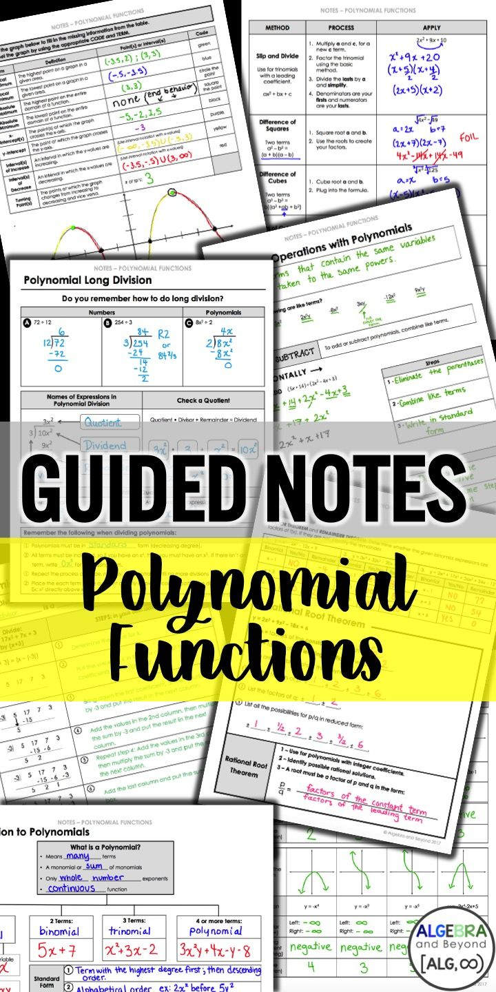 Guides notes practice homework and activities for