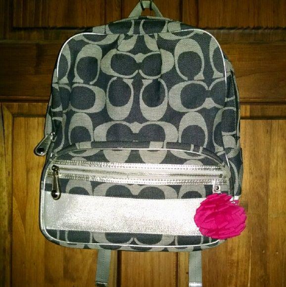 c1d5471b3d66 COACH F77171 Signature Womens Backpack Bag Handbag COACH F77171 Signature  Womens Backpack Bag Handbag Coach backpack Denim blue jacqu…