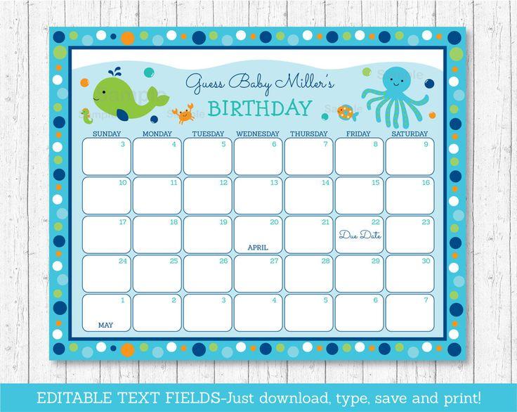 Infant Calendar Ideas : Ideas about due date calendar on pinterest baby