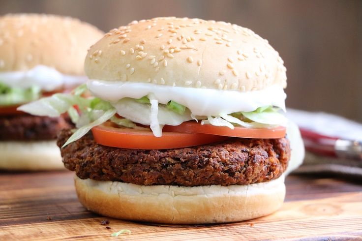 Black Bean Veggie Burger--This recipe captures that unique hamburger texture, which is greatly lacking in so very many mushy veggie burgers.