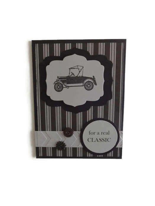 Masculine Birthday Card VIntage Car BIrthday Mens Cards