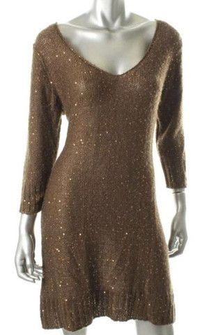 Studio M Sequined Sweaterdress, $45.00CAD + shipping (Reg. $128.00) http://stylenstuff.ca/collections/dress-to-impress?page=3