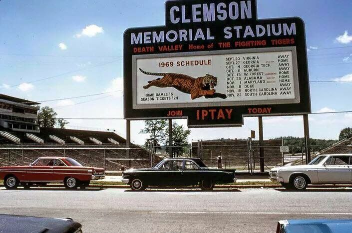 Throwback to 1969 - Look in the bottom left of the sign.  Season tickets were $24.