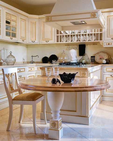 Think outside the box. Try aunique dining peninsula in your kitchen design.