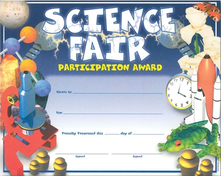 14 best images about science fair on pinterest glow print and template for Science fair certificate
