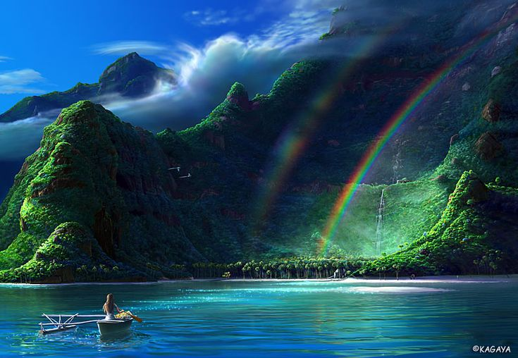 oh, she come into this place to see two rainbow or rainbow twins ...!! beyond words..!