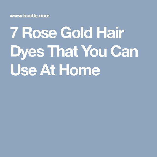 7 Rose Gold Hair Dyes That You Can Use At Home