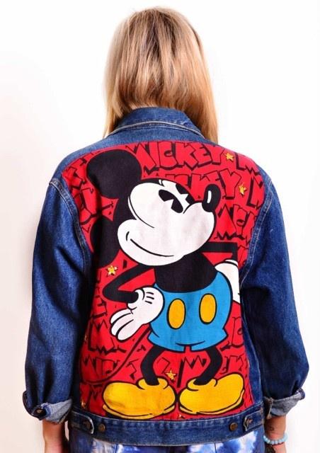 Vintage Mickey Mouse Denim Jacket Vmp Womenswear