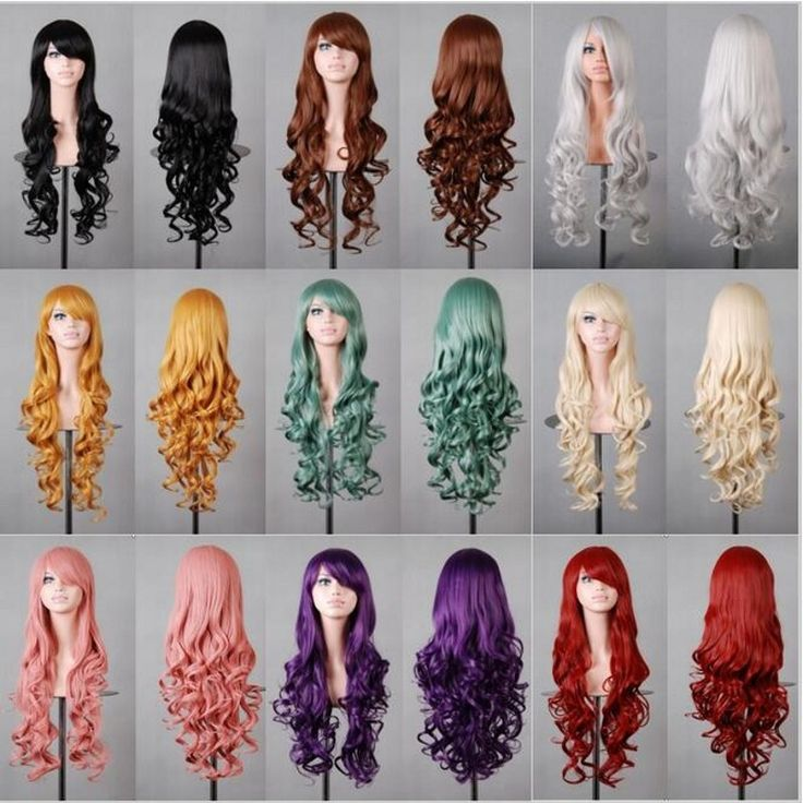 Hot sale cheap long wavy anime Silver/grey/red 12colors cosplay wig,kanekalon fibre synthetic hair womens party peruca wig-in Synthetic Wigs from Beauty & Health on Aliexpress.com | Alibaba Group
