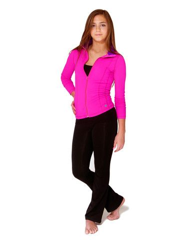 Girls Yoga Jacket #JillYoga #yoga #dance #sport