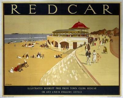 Redcar LNER, Vintage East Coast England #railway #beach #essenzadiriviera www.varaldocosmetica.it/en