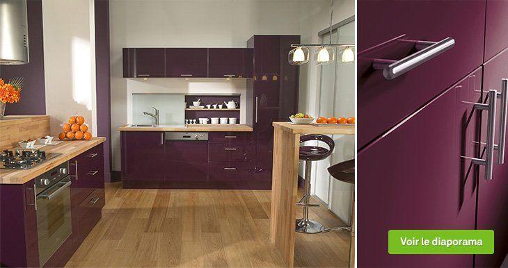 Les 25 meilleures id es de la cat gorie cuisine violet sur for Meuble cuisine violet