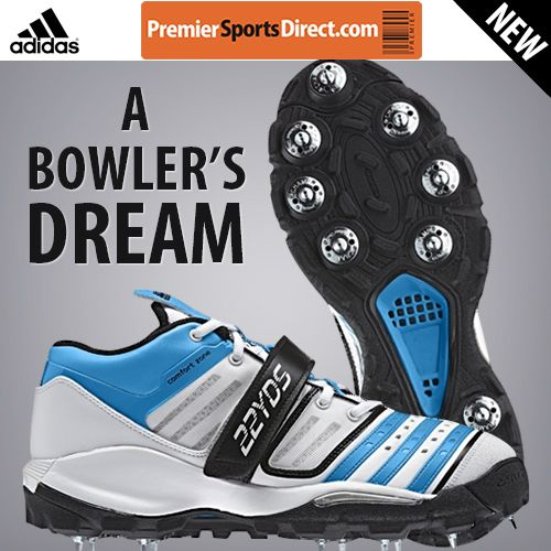 Need new bowling boots for the new season?   Pro's choice: The Adidas Twenty2YDS Mid IV #Cricket Shoe is designed in close collaboration with fast bowlers, such as Stuart Broad & Steve Finn.