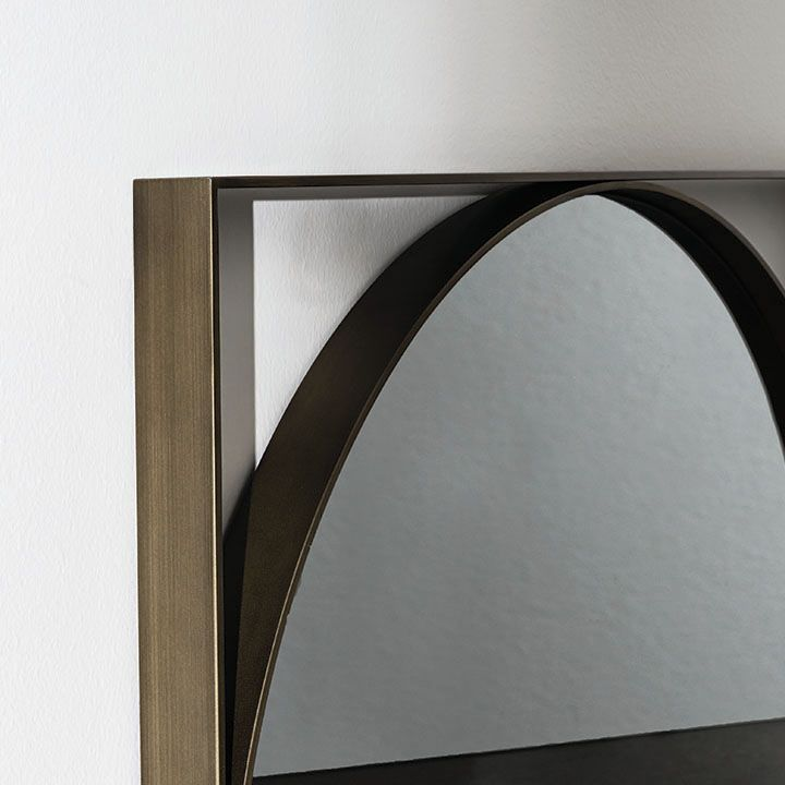 Visual #mirror #detail The refined frame enhances the mirror finishes. A #design which fits in various habitat thanks to the minimalist profile and to the essentiality #interior styling #interior architecture #home #interior #interior inspiration #interior decoration