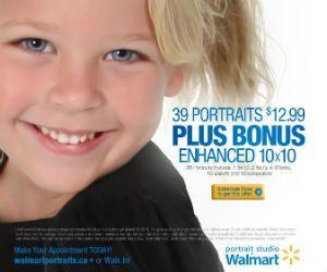 39 Portraits for $12.99 at Walmart Photo Studio #photos #portrait #photo #memories #home http://free.ca/sales/39-portraits-for-12-99-at-walmart-photo-studio/
