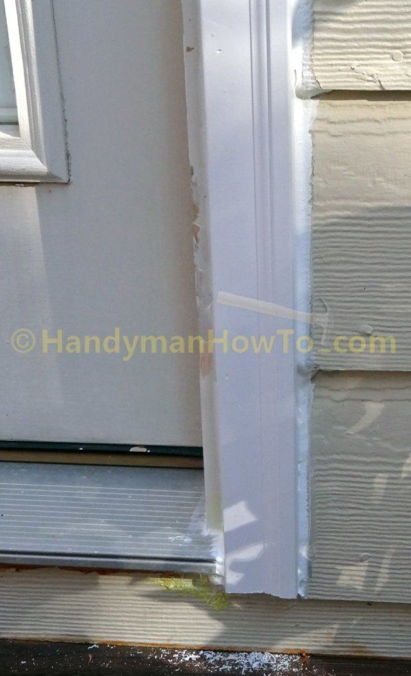 Rotted Exterior Door Frame Repair Brick Mould Caulking Door Frame Repair Exterior Door Frame Door Frame