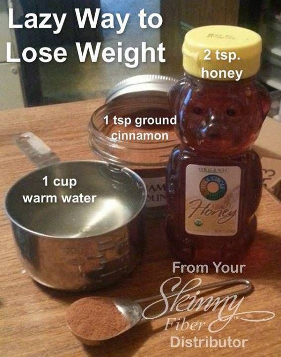 Lazy Way to Lose Weight:  Cinnamon, Honey, and Water