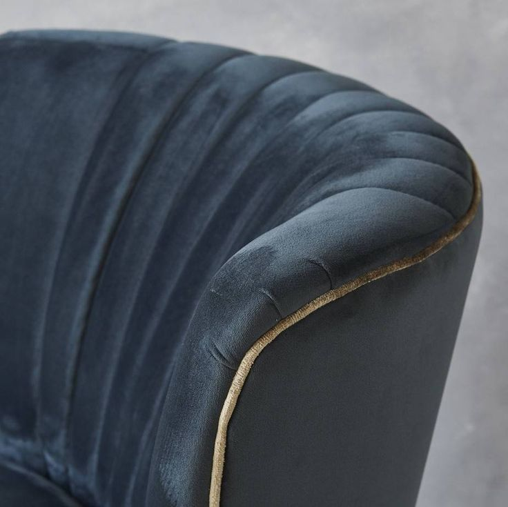 ink blue velvet mid century cocktail chair by fern & grey | notonthehighstreet.com